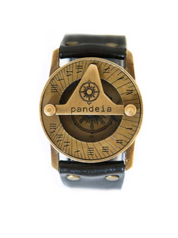 Obsidian Pandeia Sundial Compass Watch - Wings Hawai'i