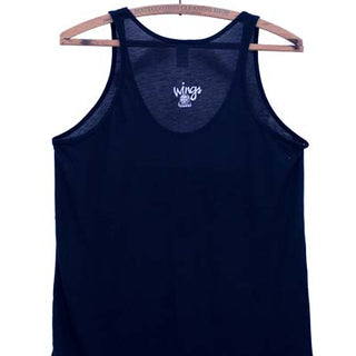 wings hawaii screen printed black basic tank with Paia printed on front