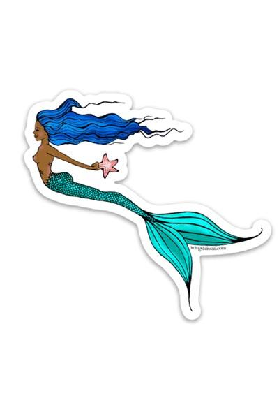 Seastar Mermaid Sticker - Wings Hawai'i
