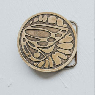 wings hawaii belt leather buckle gold brass sun wing flower butterfly fly floral handmade vintage hippy festival hippy hippie round circle women female girl boho gypsy bohemian