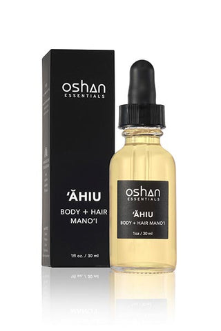 ahiu body and hair oil hawaiian sandalwood pikake jasmine ylang ylang cardamom
