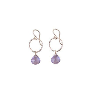 Petite Full Circle Earrings - Amethyst
