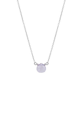 Single Stone Necklace - Amethyst
