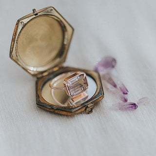 14 karat rose gold ametrine crystal ring wings hawaii