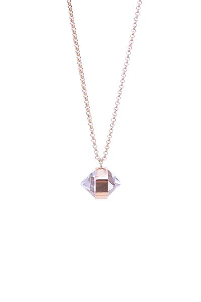 Herkimer Diamond Necklace - 14k