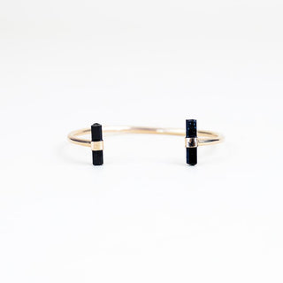 Black Tourmaline Horseshoe Cuff