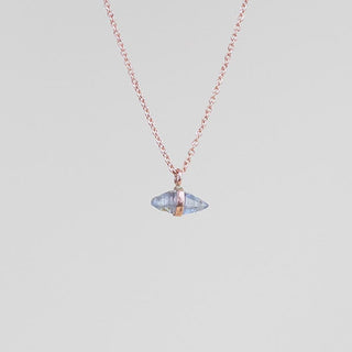 Banded Crystal Necklace - 14k - Sapphire