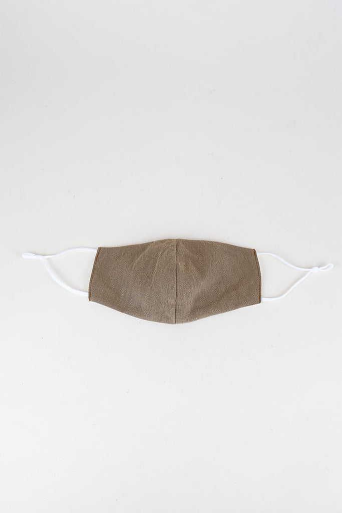 Linen Face Mask - Beige