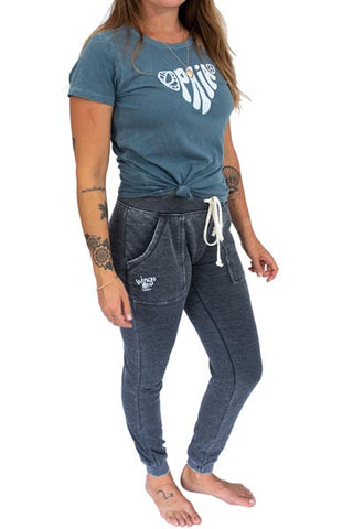 Maile Mermaid Sweat Pants - Washed Black