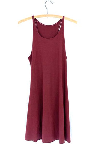 Burgundy Ryanne Swing Dress