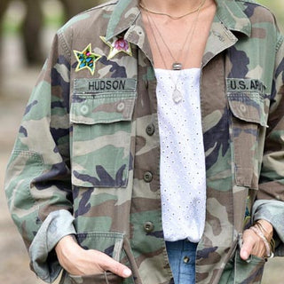 Peace Sign Camo Jacket