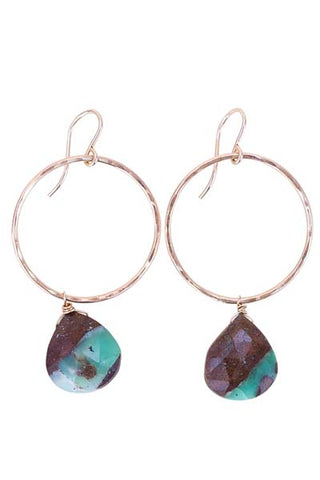 Chrysoprase Full Circle Earrings