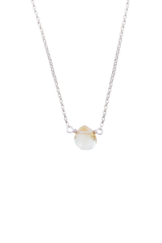 Single Stone Necklace - Citrine