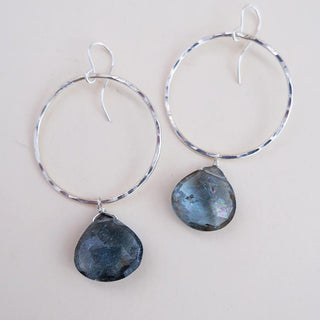Full Circle Earrings - Copper Aquamarine