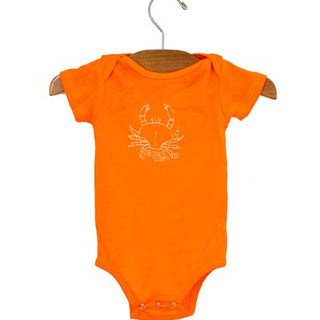 organic cotton baby onesie papai crab hand designed graphic baby outfit haiku maui wings hawaii