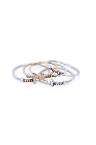 wings hawaii stack of dagger rings made in sterling silver or 14 karat gold. Rings sold individually