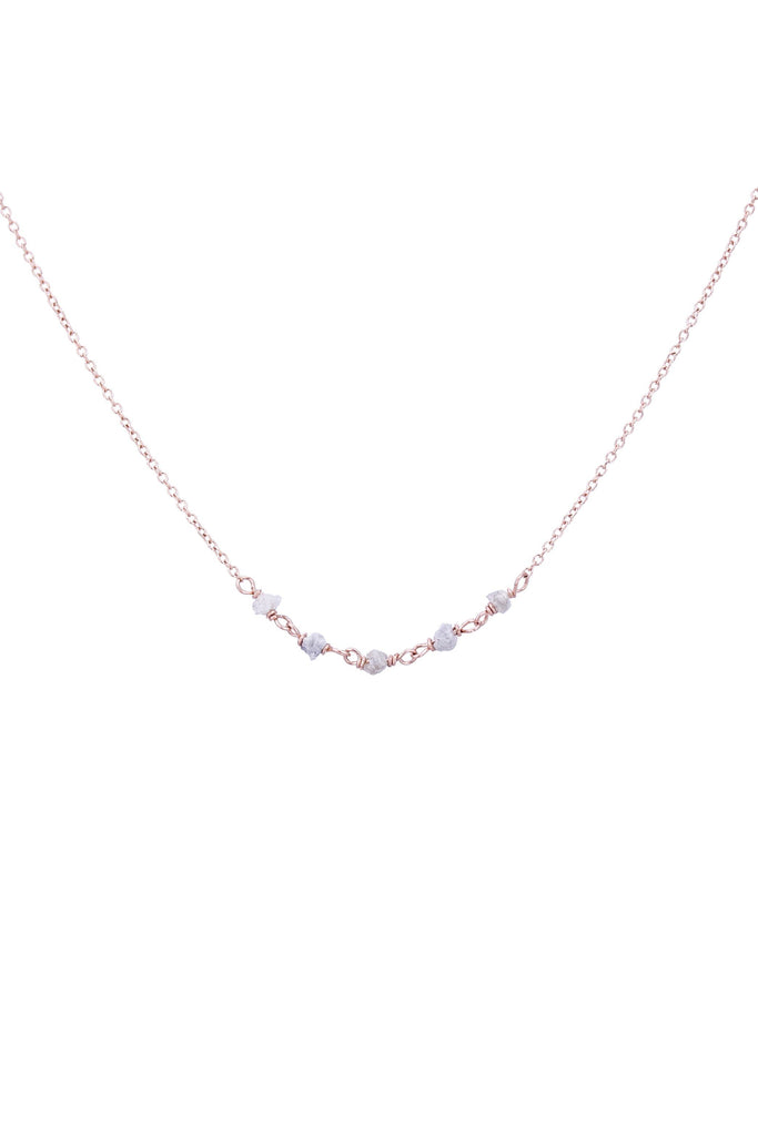 Rose Diamond in the Rough Necklace
