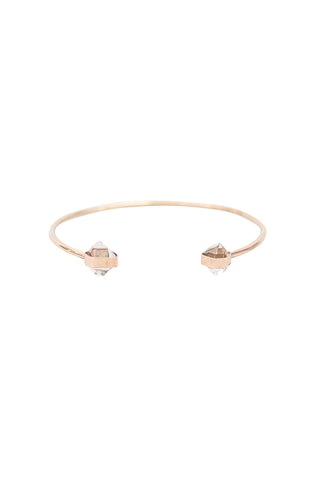 Herkimer Diamond Crystal Cuff