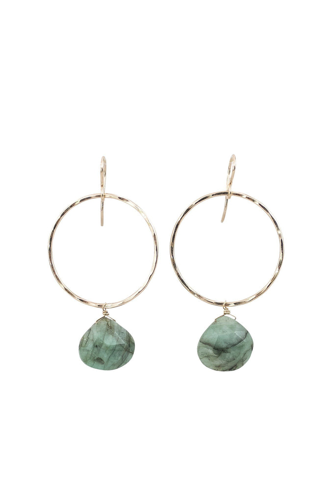 Full Circle Earrings - Emerald