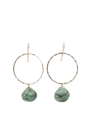 Emerald Full Circle Earrings
