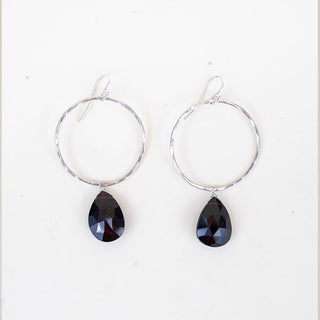 Full Circle Earrings - Garnet