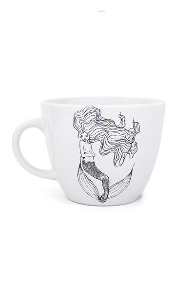 wings hawaii original mermaid art on white mug