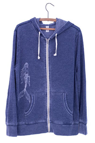 Maile Mermaid French Terry Zip Hoodie