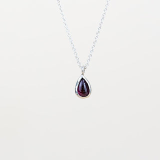 Dew Drop Necklace - Garnet