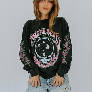 Grateful Dead Space Face Long Sleeve