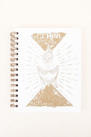 zodiac journal notebook gemini birthday season mermaid artwork wings hawaii