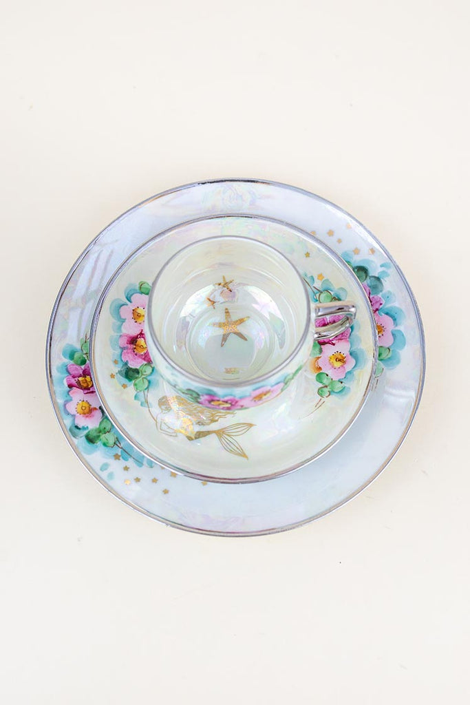 Mermaid Vintage Dish Set