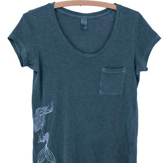 Mermaid Pocket Tee - Pine
