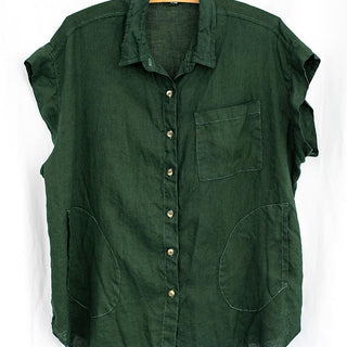 Short Sleeve Pocket Blouse - Hunter