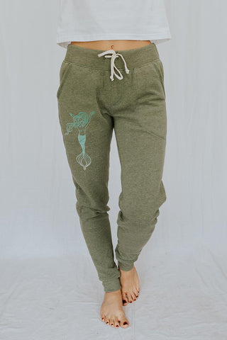 Eco-Fleece Jogger Pants - Aquarius Mermaid