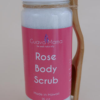 guava mama rose body scrub made in hawaii