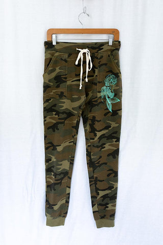 Mermaid Sweat Pants - Camo