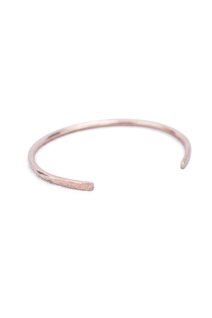wings hawaii cuff bracelet hammered out at ends to create small flare in 14 karat gold fill