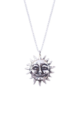wings hawaii necklace with casted smiling sterling silver sun on sterling silver chain