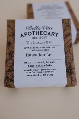 bella vita apothecary hawaiian lei natural soap made in maui