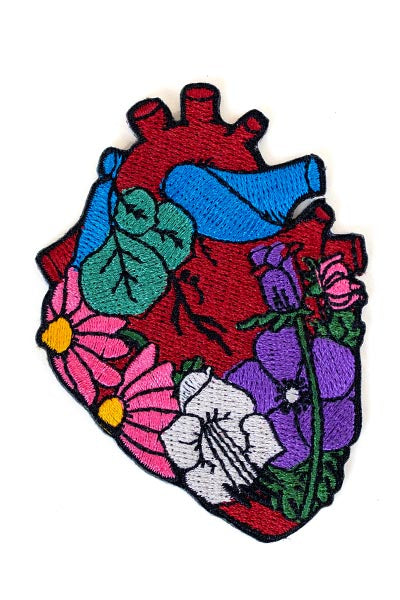 wings hawaii iron or embroidered patch heart flowers maui