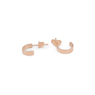 14k gold cuff hoop stud earrings simple minimal classic womens style jewelry hand made haiku maui wings hawaii