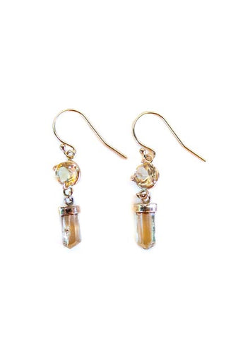 wings hawaii imperial topaz citrine 14 karat yellow gold earrings birthstones dainty fine jewelry maui made