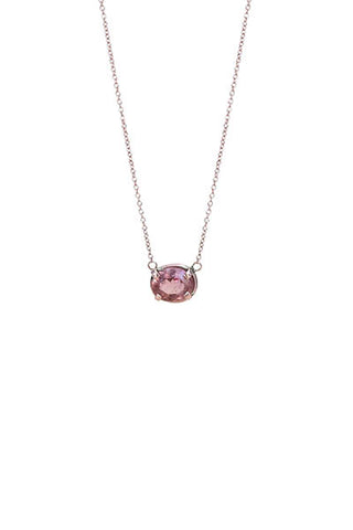 Oval Imperial Topaz Necklace