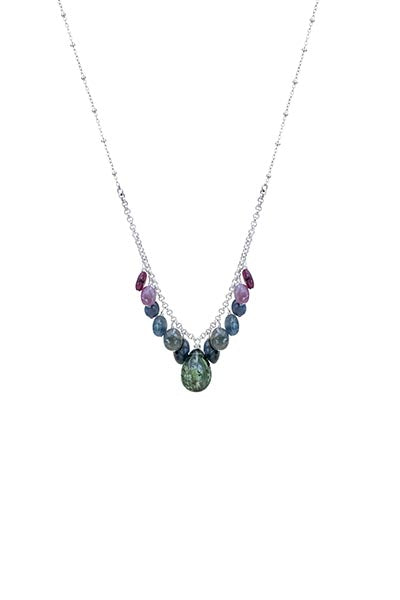 wings hawaii sapphire necklace gemstone green blue mermaid jewelry sterling silver