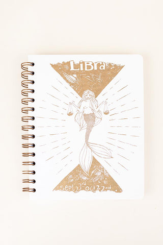 zodiac journal notebook libra birthday season mermaid artwork wings hawaii