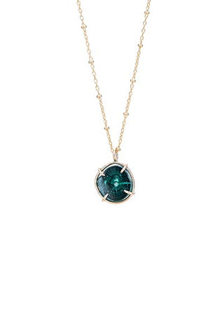 Malachite Prong Necklace