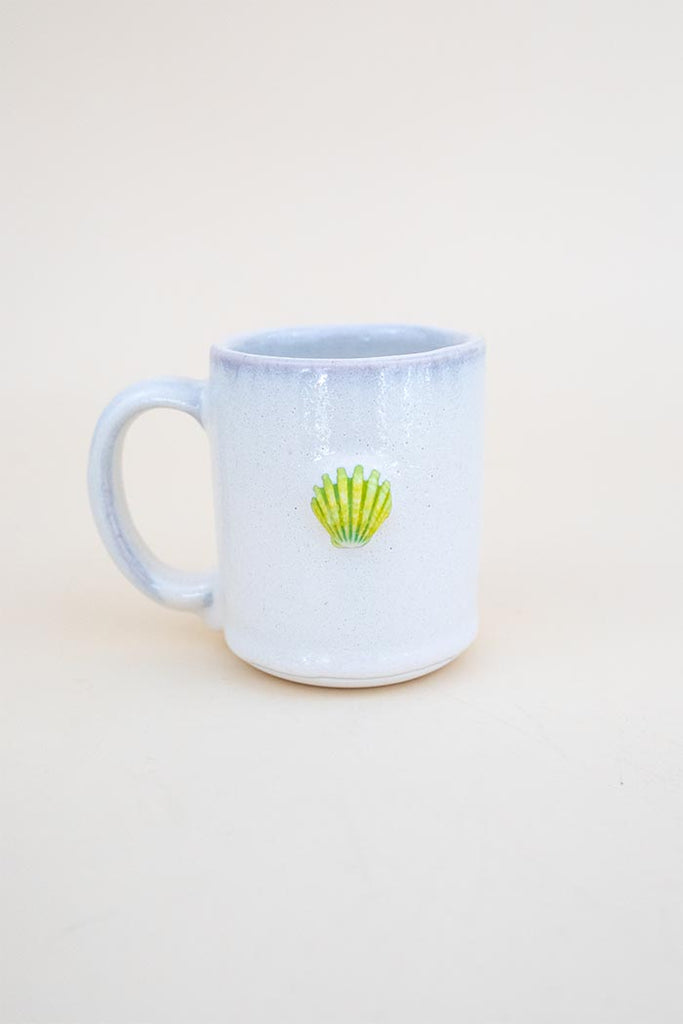 Moonrise Shell Mug - Green / Yellow