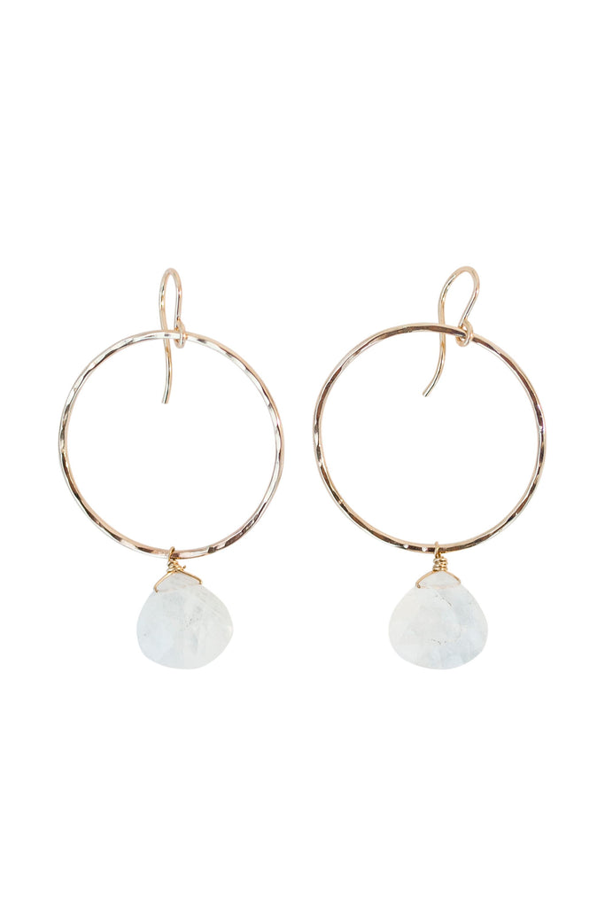 Full Circle Earrings - Moonstone
