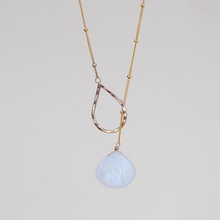 Lariat Necklace - Moonstone