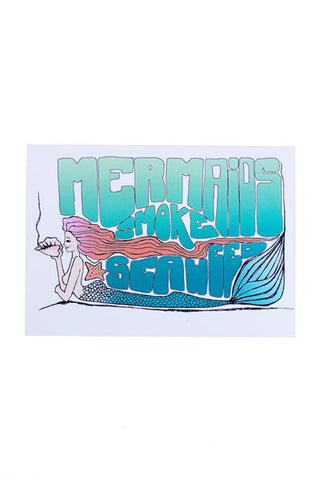 Mermaids Smoke Seaweed Card